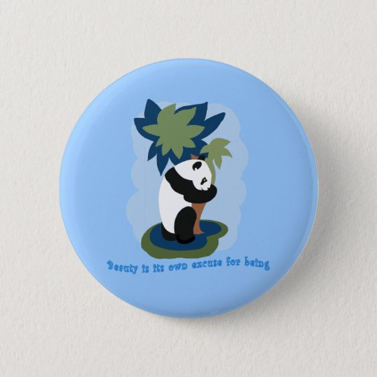 Emerson Quote with Endangered Panda 6 Cm Round Badge