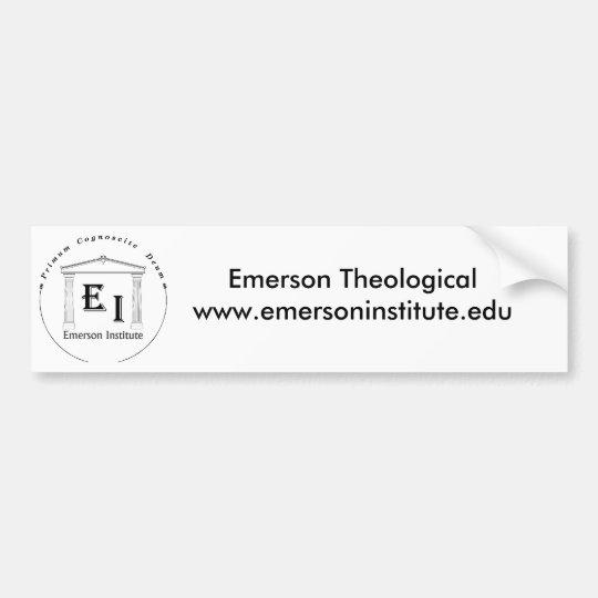 Emerson Theological Institute Bumper Sticker
