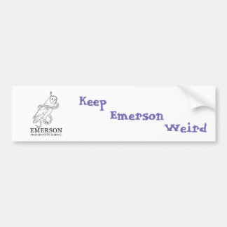 Emerson Weird Bumper Sticker (Owl)