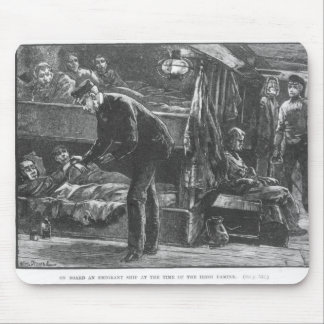 Emigrant Ship at the Time of the Irish Famine Mouse Pad