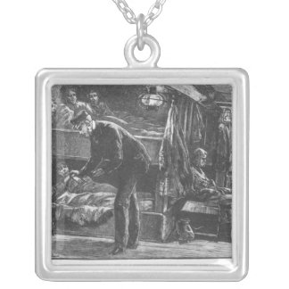 Emigrant Ship at the Time of the Irish Famine Silver Plated Necklace