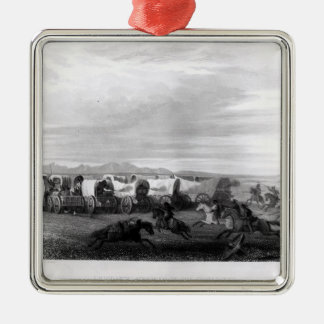 Emigrants attacked by the Comanches Christmas Ornament