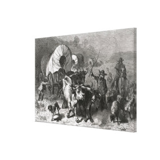 Emigration to the Western Country Canvas Print