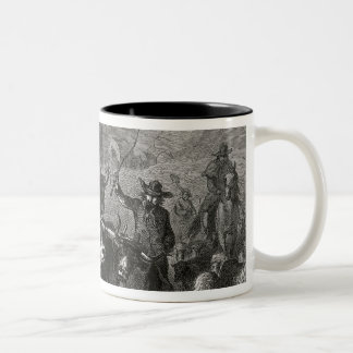Emigration to the Western Country Two-Tone Coffee Mug