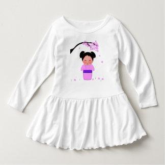 Emiko Toddler Ruffle Dress, White Dress
