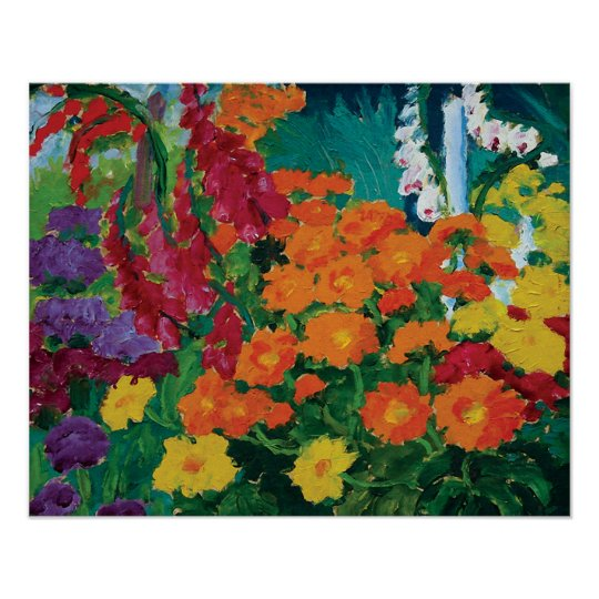 Emil Nolde - Garden of Flowers Fine Art