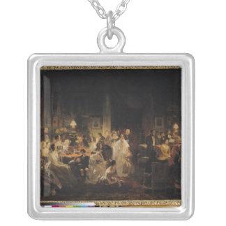 Emile Jean Horace Vernet Silver Plated Necklace