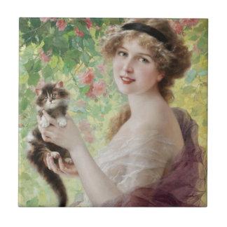 Emile Vernon Precious Kitten Tile