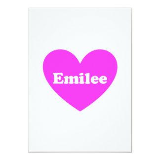 Emilee 13 Cm X 18 Cm Invitation Card