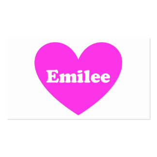 Emilee Pack Of Standard Business Cards