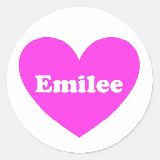 Emilee Round Sticker