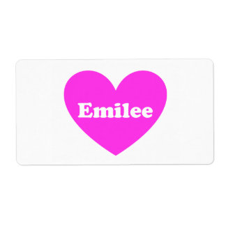 Emilee Shipping Label