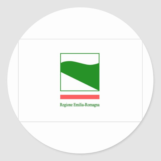 Emilia Romagna Bandiera, Italy Classic Round Sticker