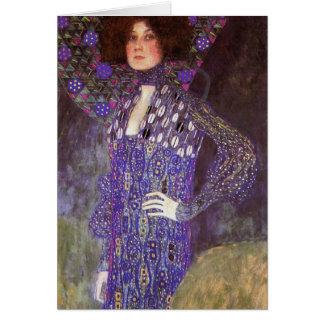 Emilie Floege by: Gustav Klimt Card