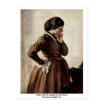 Emilie Menzel, Standing On The Piano Postcard