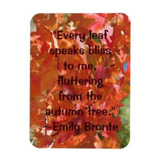 Emily Bronte Autumn Quote Magnet