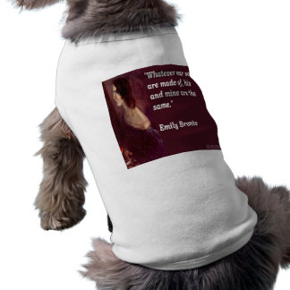 Emily Bronte & Famous Our Souls Quote Sleeveless Dog Shirt