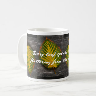 Emily Bronte Quote Autumn Leaf Coffee Mug