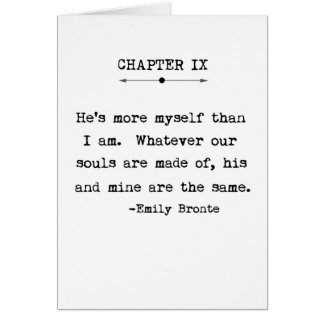 Emily Bronte Quote Greeting Card