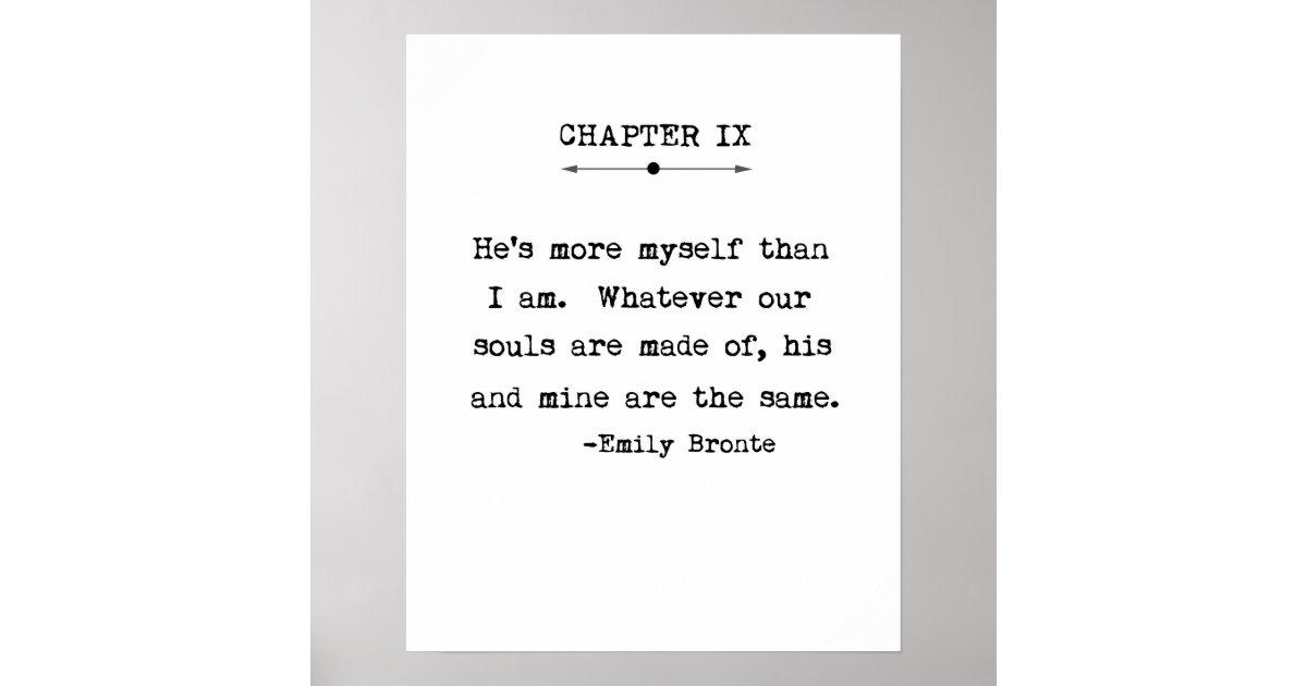 Emily Bronte Quote Poster Zazzle