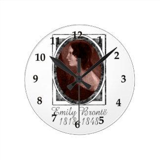Emily Brontë Round Clock