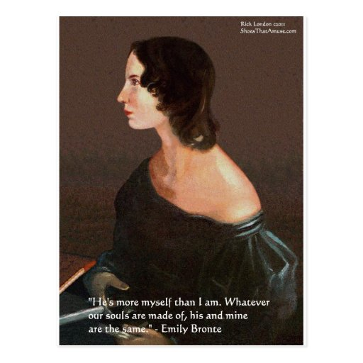 """Emily Bronte """"Souls Same"""" Love Quote Gifts & Cards Post Card"""