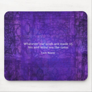 Emily Bronte whimsical romance quote Mouse Mat