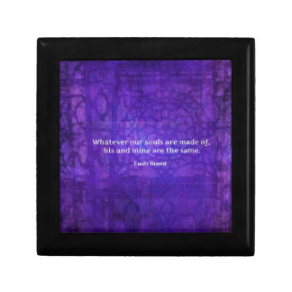 Emily Bronte whimsical romance quote Small Square Gift Box