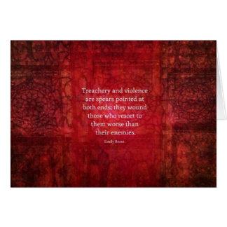 Emily Bronte WISDOM quote Card