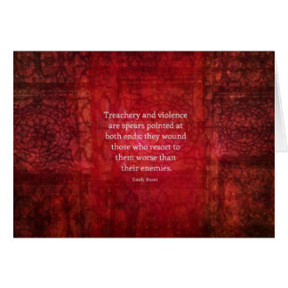 Emily Bronte WISDOM quote Greeting Card