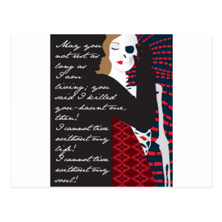 Emily Bronte / Wuthering Height gift design with q Postcard