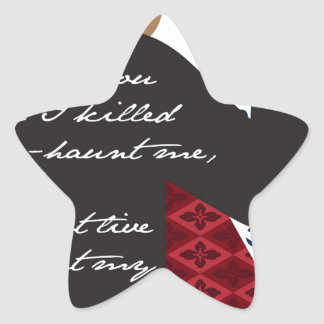 Emily Bronte / Wuthering Height gift design with q Star Sticker