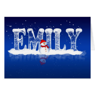 Emily - Christmas Card Personalised For An Emily