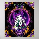 Emily Crystal Ball Flower Rainbow Fairy Poster