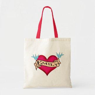 Emily - Custom Heart Tattoo T-shirts & Gifts Canvas Bag