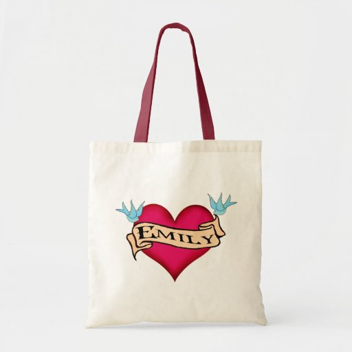 Emily custom heart tattoo t shirts gifts canvas bags for Zazzle custom t shirts