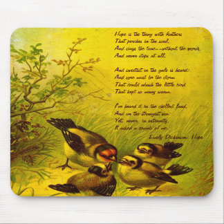 """Emily Dickinson """"Hope"""" Poem Mouse Pad"""