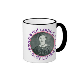 Emily Dickinson Portrait With Quote Mugs