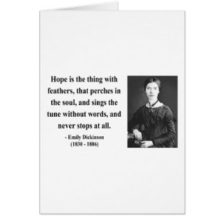 Emily Dickinson Quote 1b Card
