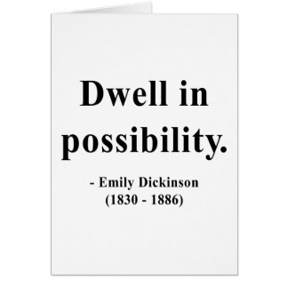 Emily Dickinson Quote 2a Card