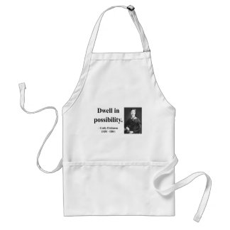 Emily Dickinson Quote 2b Standard Apron