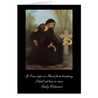 Emily Dickinson - William Bouguereau Sympathy Card