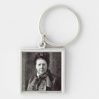 Emily Faithfull Silver-Colored Square Key Ring