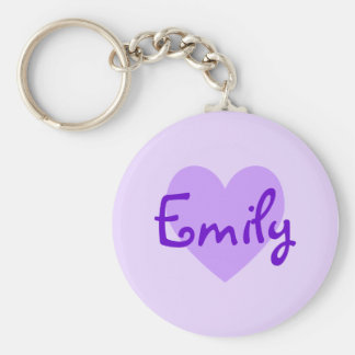 Emily in Purple Key Ring