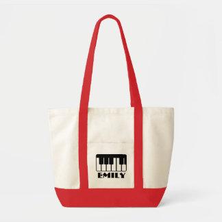 Emily  Name Piano Music Tote Bag