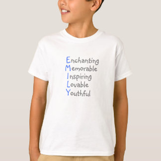 Emily - Personalized Blue Acrostic with Virtues T-Shirt