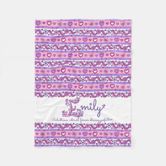 Emily personalized E name meaning kids blanket
