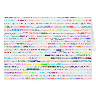 Emily Text Design II Horizontal Greeting Card