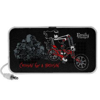 Emily the Strange Cruisin' For A Bruisin' Laptop Speaker