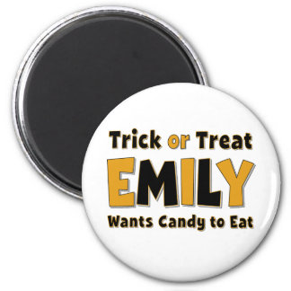Emily Trick or Treat Magnet